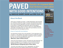 Tablet Preview of pavedwithgoodintentions.ca